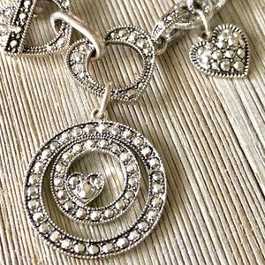 Jewelry - Silver Sparkly Heavy Link Charm Bracelet